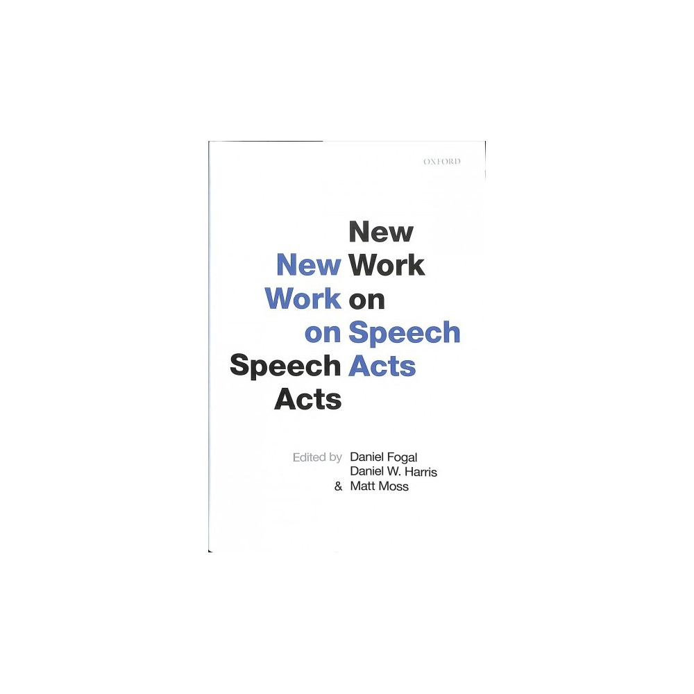 New Work on Speech Acts - (Hardcover)
