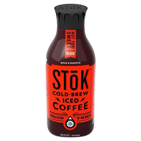 Stok Cold Brew Iced Coffee Not Too Sweet Black 48 Oz Target