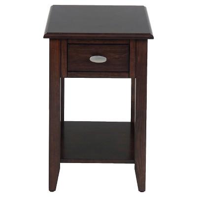Merlot Chairside Table Brown - Jofran Inc.