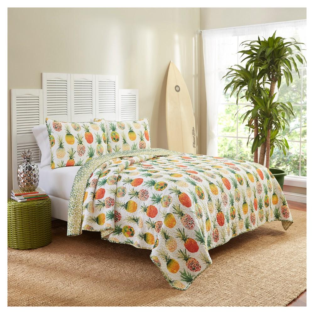Pineapples Kokomo Reversible Quilt Set Twin 2pc Vue