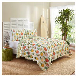 Pineapples Kokomo Reversible Quilt Set (King) 3pc - Vue®