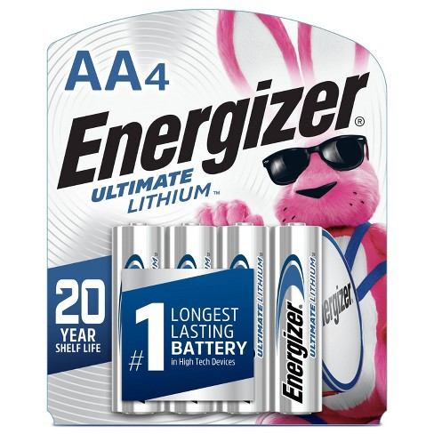Energizer 4pk Ultimate Lithium AA Batteries - image 1 of 2