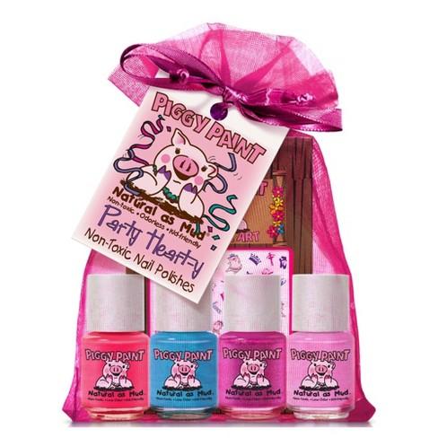 Piggy Paint Nail Polish Set - Party Heart-y - 4pk/0.25 fl oz each + 1 Nail Art - image 1 of 3