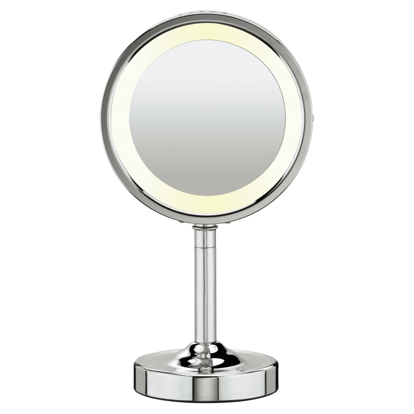 Conair Double-Sided Lighted Makeup Mirror with 5X Magnification - image 1 of 3