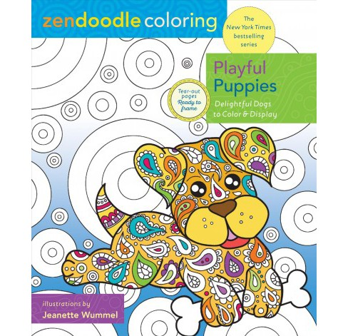 Playful Puppies : Delightful Dogs to Color and Display (Paperback) (Jeanette Wummel) - image 1 of 1