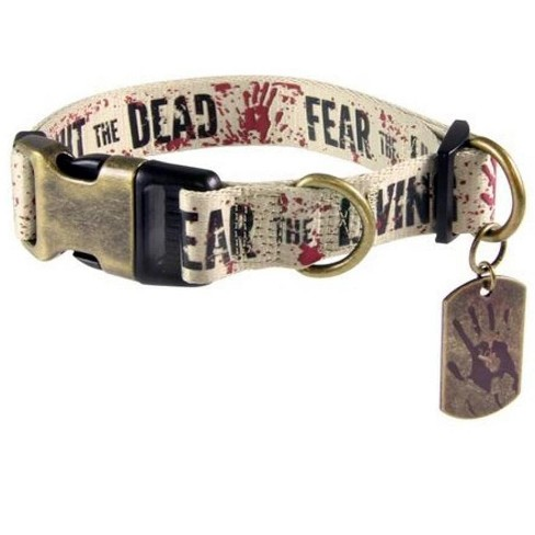 "The Walking Dead ""Fight the Dead, Fear the Living"" Dog Collar - image 1 of 1"