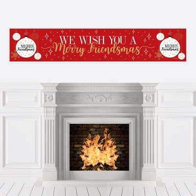 Big Dot of Happiness Red and Gold Friendsmas - Friends Christmas Party Decorations Party Banner