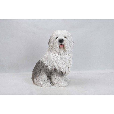 "17.75"" Polyresin Old English Sheepdog Statue White - Hi-Line Gift - image 1 of 1"