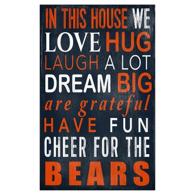 NFL Chicago Bears Fan Creations In This House Sign