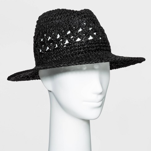 Women's Crocheted Straw Panama Hat - A New Day™ - image 1 of 1