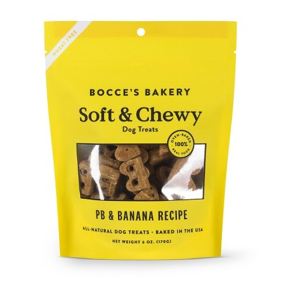 Bocce's Bakery Peanut Butter and Banana Basic Soft and Chewy Dog Treats - 6oz