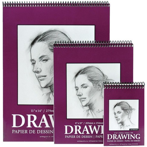 Jack Richeson Heavy Weight Drawing Pad, 11 x 14 Inches, 75 lb, 30 Sheets - image 1 of 1