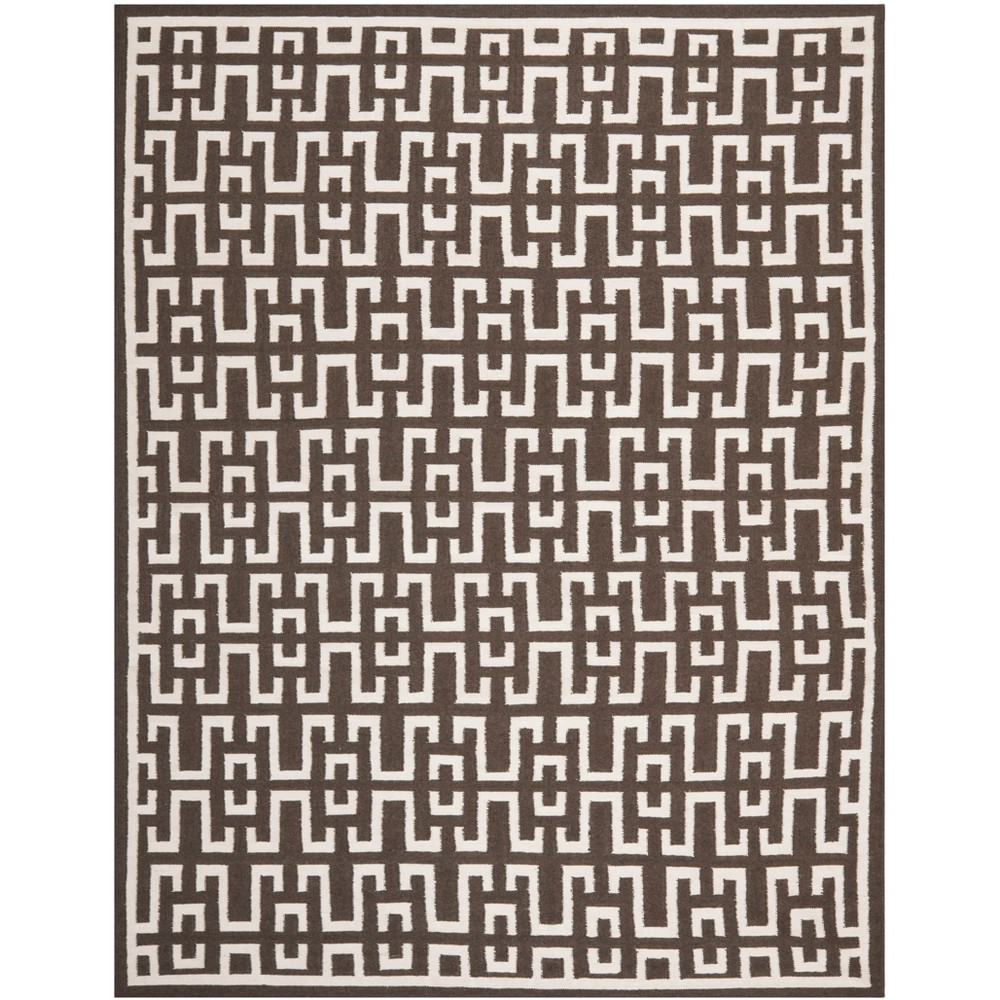 8'X10' Woven Geometric Area Rug Chocolate (Brown) - Safavieh