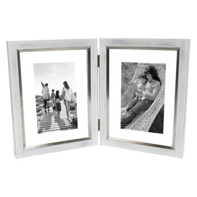 5 X7  Double Opening Float Frame With Hinge Silver - Threshold™