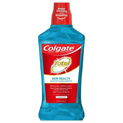 Colgate Gum Health Alcohol Free Mouthwash - Clean Mint - 33.8 fl oz