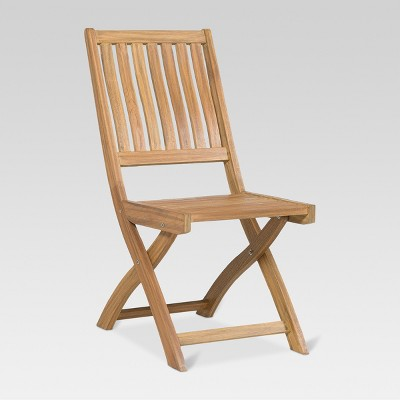Beau Wood Bistro Patio Chair   Threshold™ : Target