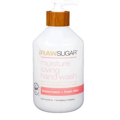 Raw Sugar Liquid Hand Soap Watermelon Mint