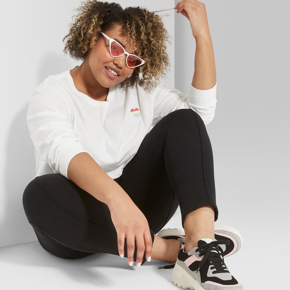 Women's Plus Size Straight Leg Sweatpants - Wild Fable Black 3X