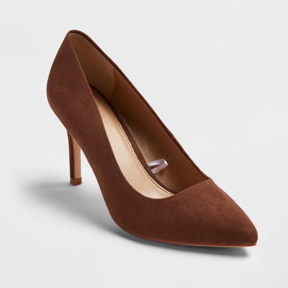 Women's Gemma Pointed Toe Pumps - A New Day Coffee Bean 9