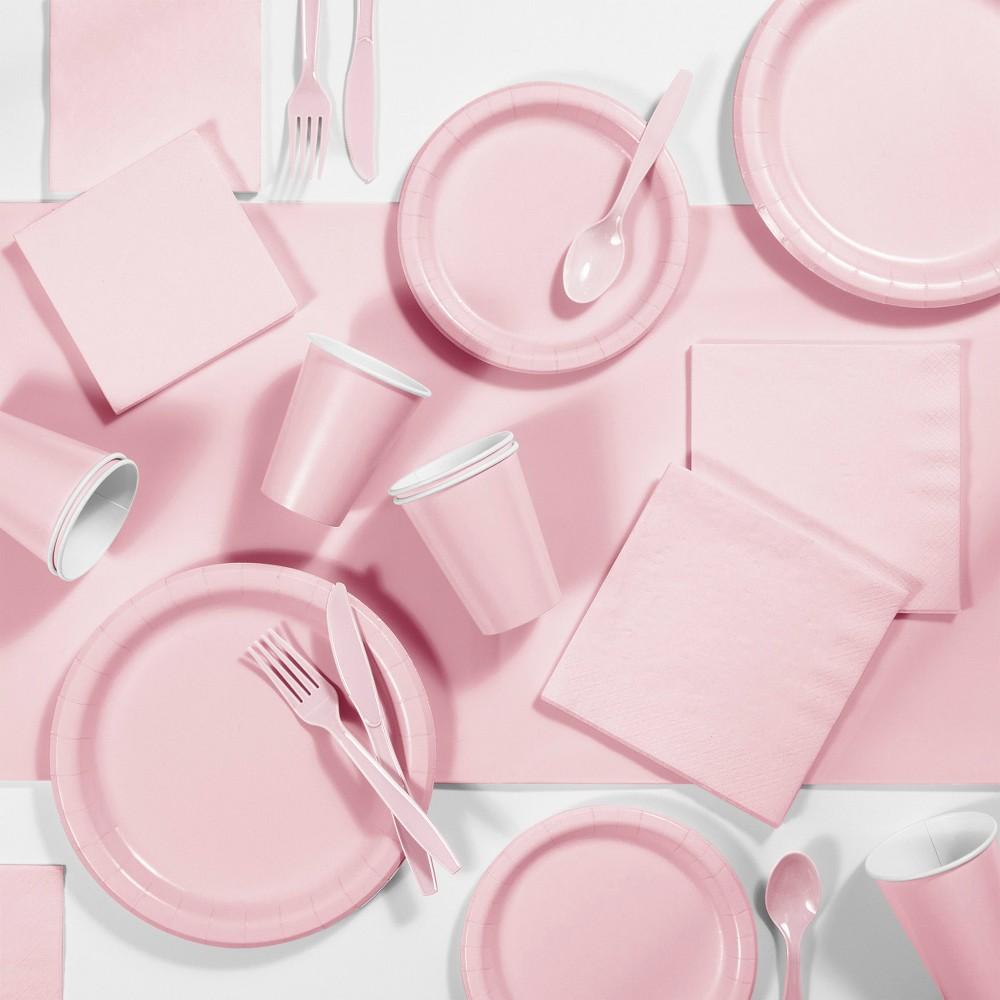 245pk Party Supplies Kit Light Pink Cheap