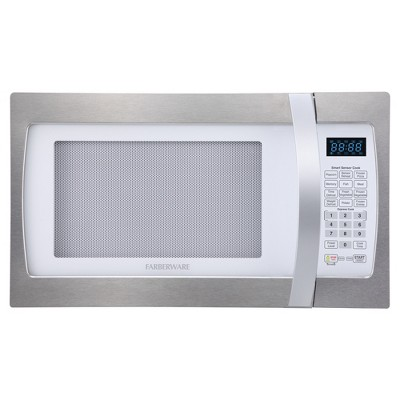 Farberware 1.3 Cu. Ft. 1100 Watt Microwave Oven - Stainless Steel