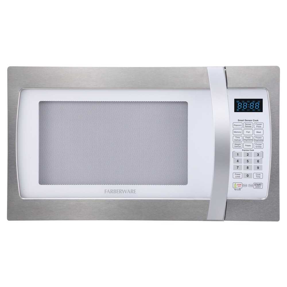 Farberware 1.3 Cu. Ft. 1100 Watt Microwave Oven – Stainless Steel (Silver) 52024227