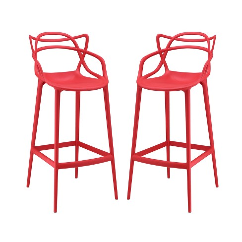 Set of 2 Entangled Bar Stool - Modway - image 1 of 5
