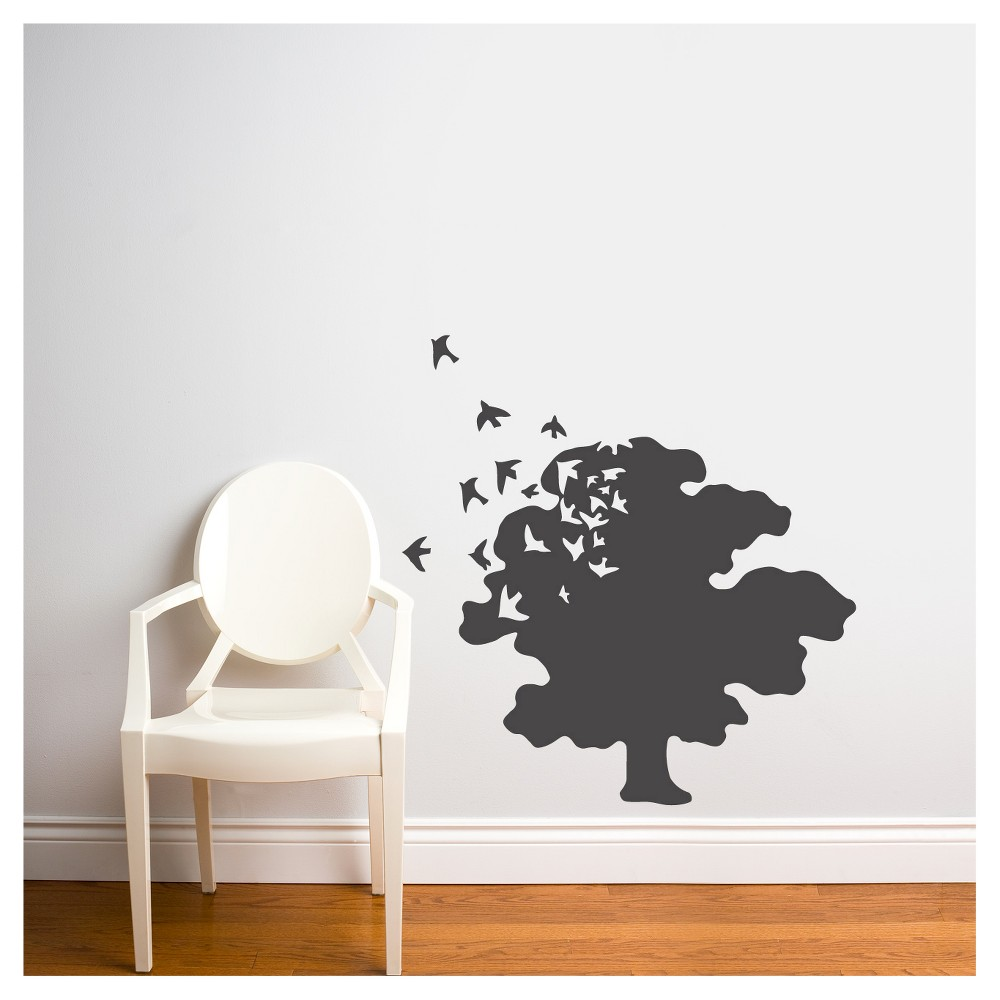 Tree of Life Wall Decal - Charcoal, Charcoal Heather