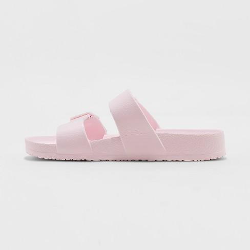 f2c44ebba91 Women s Neida Wide Width Eva Two Band Slide Sandals - Shade   Shore™ Blush  5W   Target