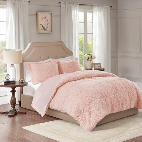 Zoe Faux Monhair Reverse Faux Mink Comforter Set Target