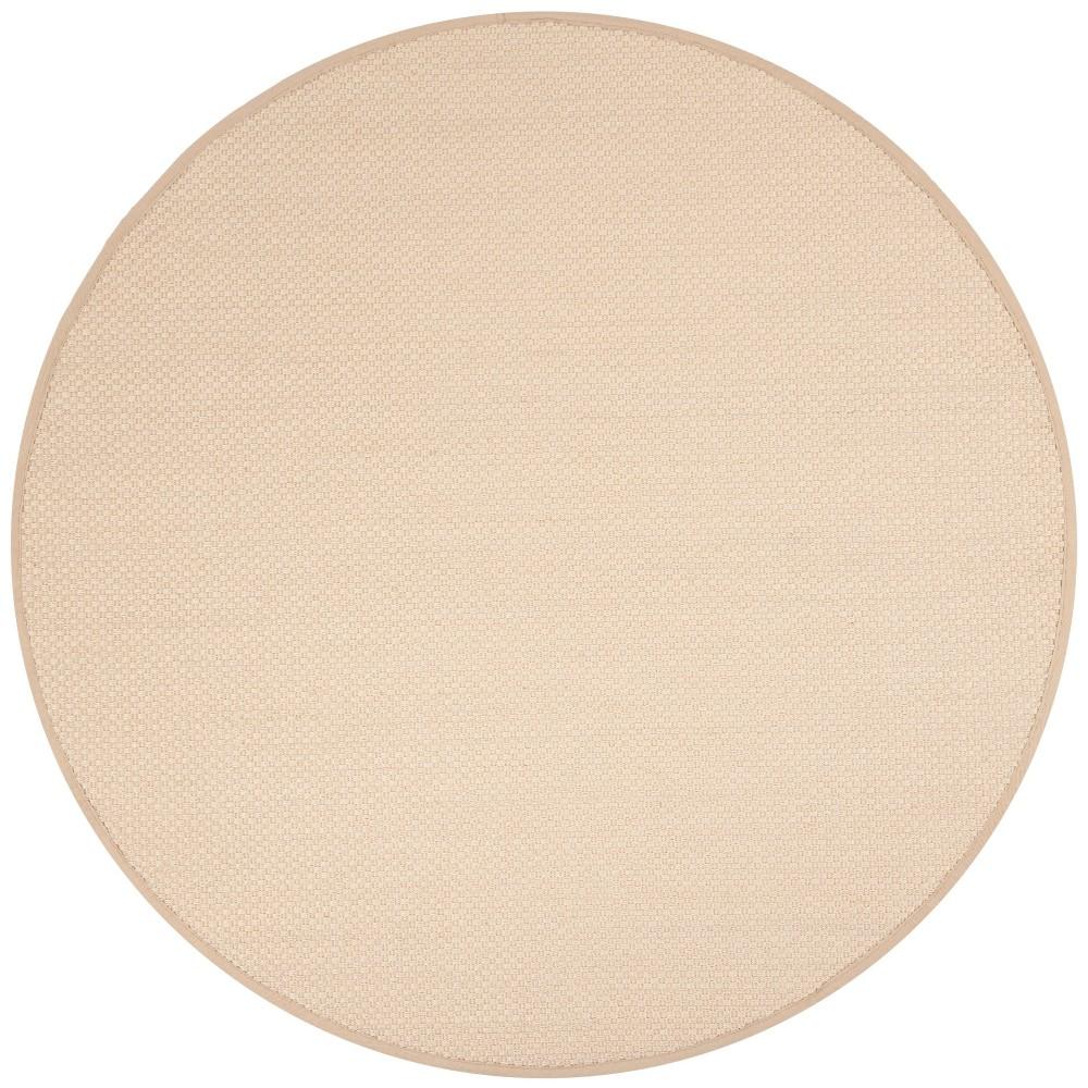 6' Solid Loomed Round Area Rug Ivory/Light Beige - Safavieh