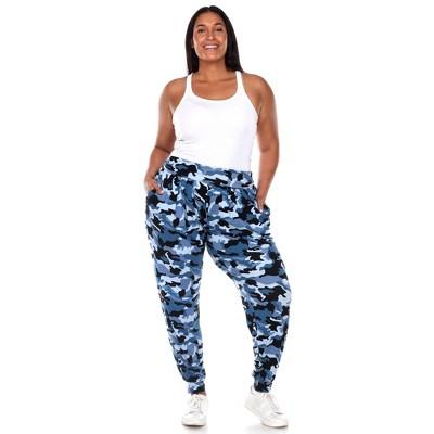 Plus Size Camo Harem Pants - White Mark