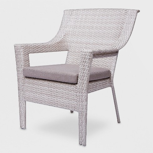 Fine Southcrest Wicker Patio Stack Club Chair Gray Threshold Ncnpc Chair Design For Home Ncnpcorg