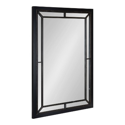 "24"" x 36"" Audubon Rectangle Wall Mirror Black - Kate & Laurel All Things Decor"