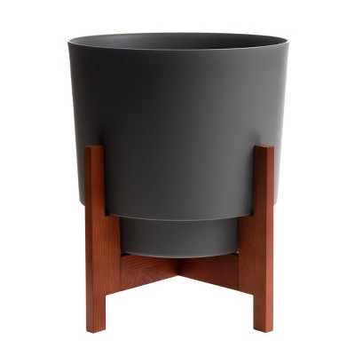 Hopson Planter with Wood Stand - Bloem