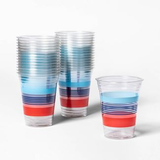 Stripes Printed Clear Cup - 30ct - Up&Up™