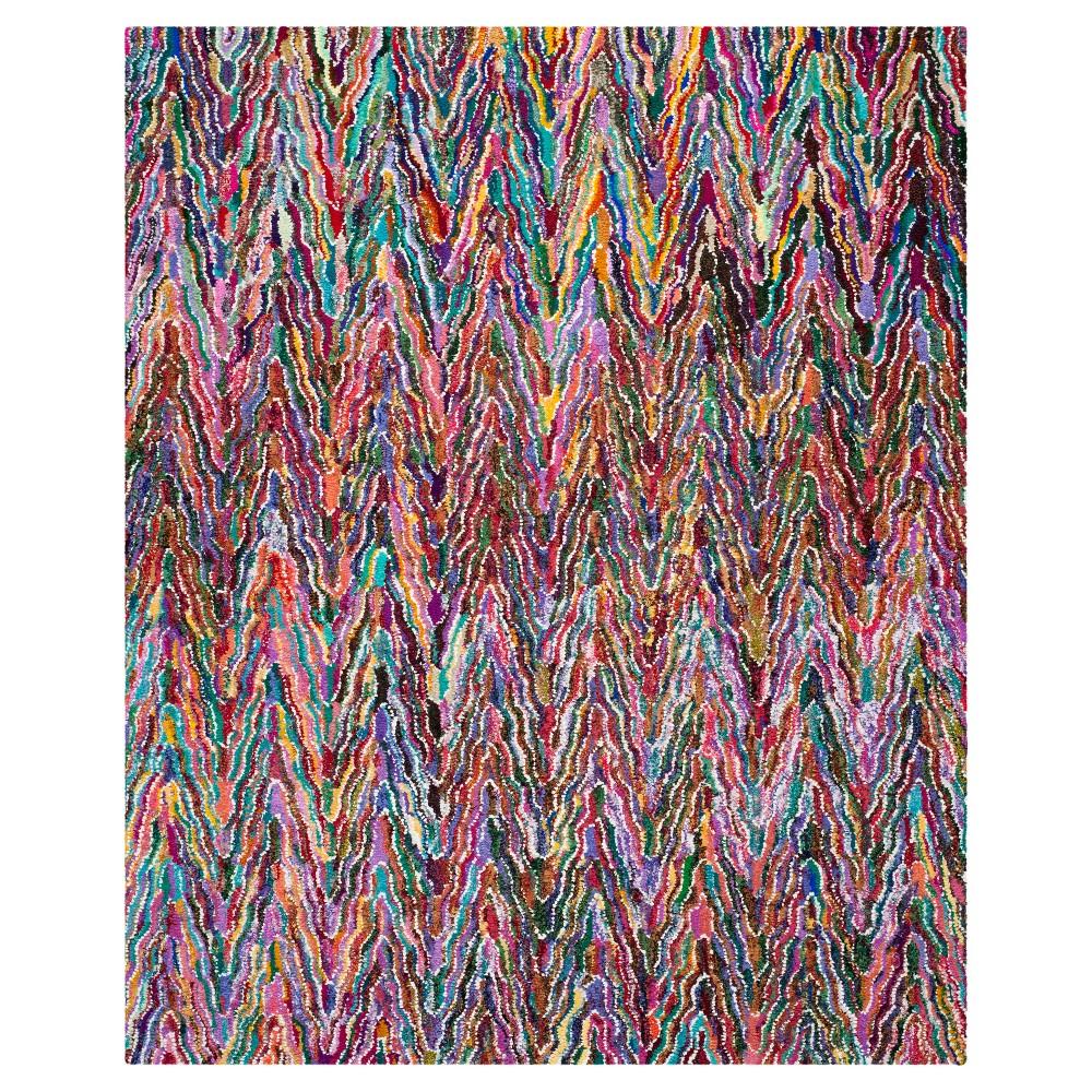 Stripes Tufted Area Rug - (9'x12') - Safavieh, Multi-Colored