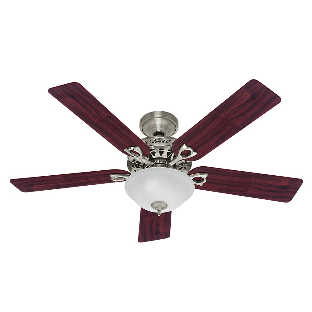 "Image of ""52"""" Astoria LED Lighted Ceiling Fan Brushed Nickel - Hunter Fan"""