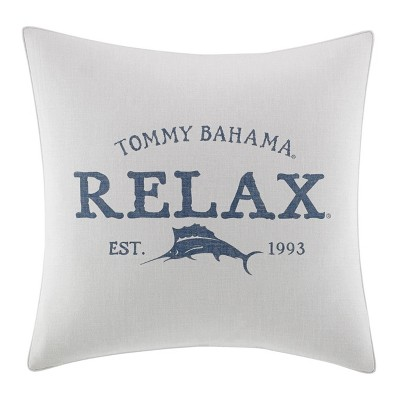 "20"" x 20"" Raw Coast Decorative Throw Pillow Blue - Tommy Bahama"