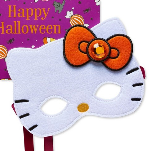 Hello Kitty Mask Halloween Greeting Card - PAPYRUS - image 1 of 3