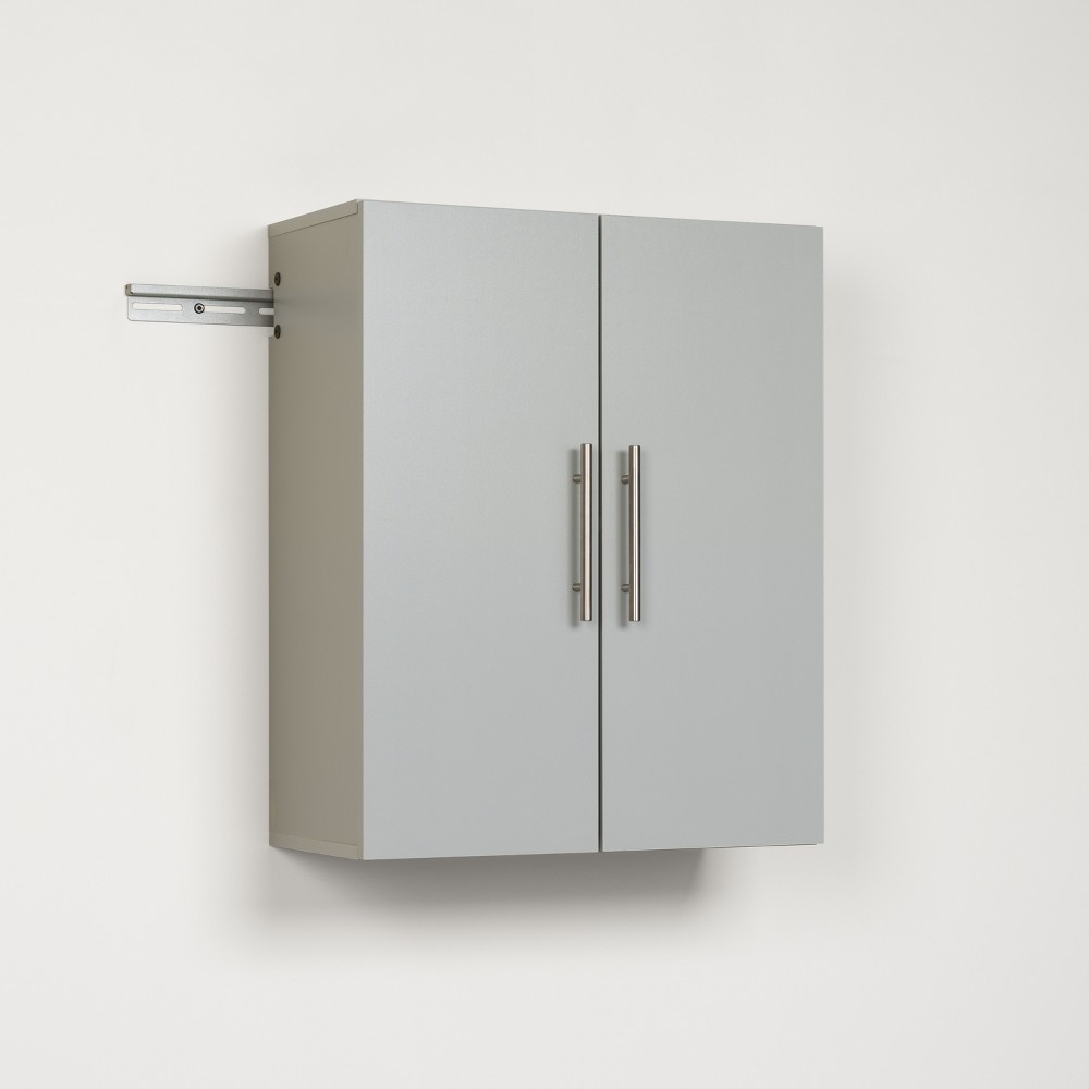 Hangups 24 Upper Storage Cabinet Light Gray - Prepac, Light Grey