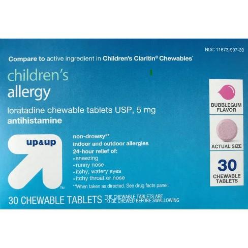 Children's Loratadine Allergy Relief Chewable Tablets - Bubblegum - 30ct - Up&Up™ - image 1 of 1