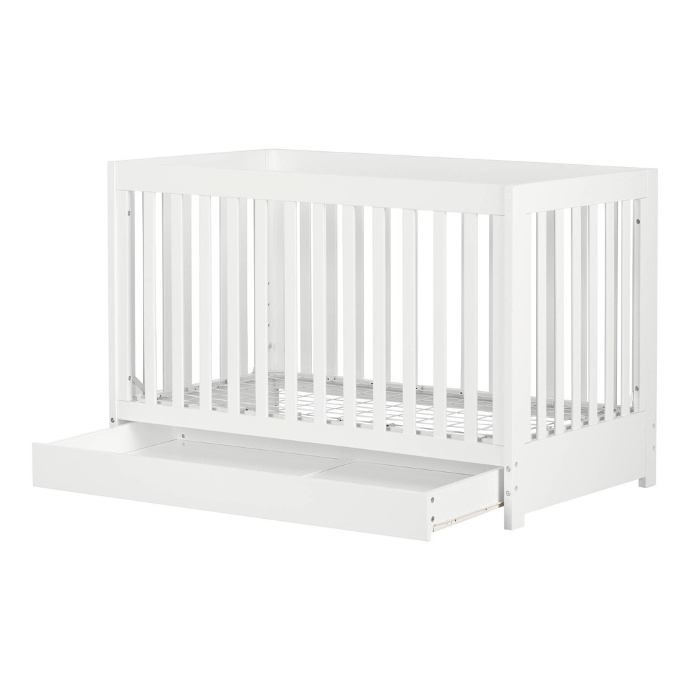 Yodi Crib With Drawer White South Shore