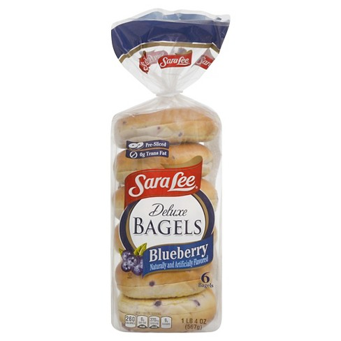 Sara Lee Deluxe Bagels Blueberry - 6ct 20oz - image 1 of 1