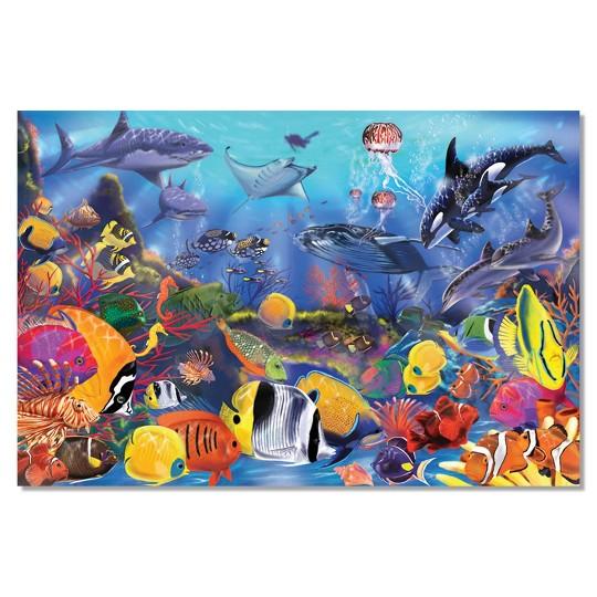Melissa And Doug Underwater Ocean Floor Puzzle 48pc image number null