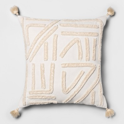 Cream Chenille Euro Dec Pillow - Opalhouse™