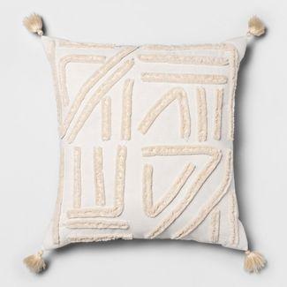 Cream Chenille Euro Dec Pillow - Opalhouse™