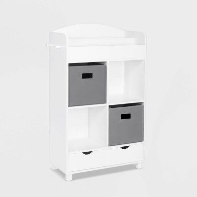 Kids' Book Nook Collection Cubby Storage Cabinet and Bookrack with 2 Bins - RiverRidge