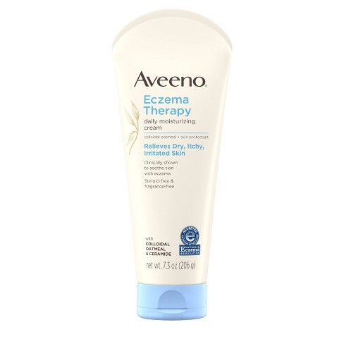 Aveeno Eczema Therapy Daily Moisturizing Cream with Oatmeal- 7.3oz - image 1 of 4