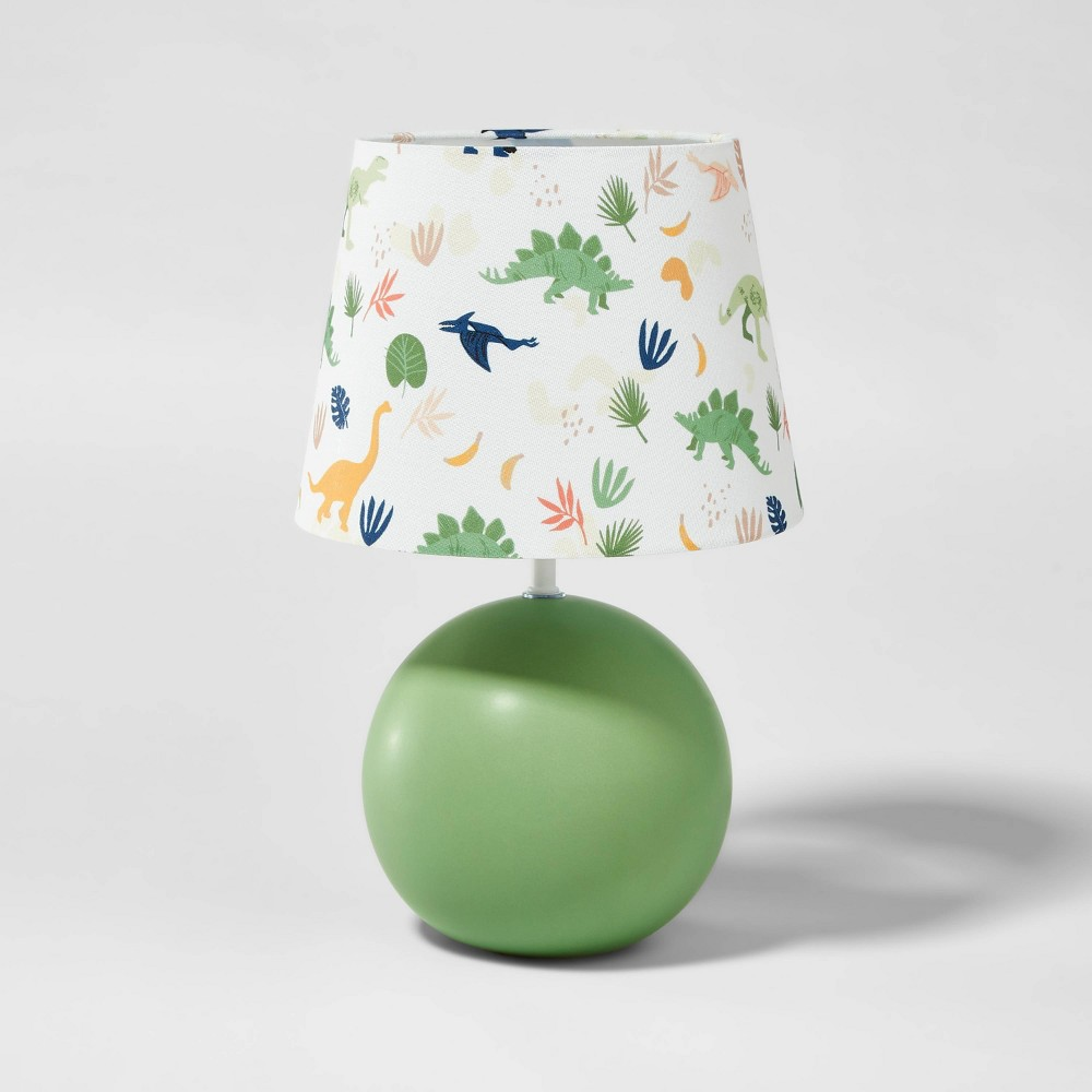 Round Base With Dino Shade Includes Energy Efficient Light Bulb Green Pillowfort 8482